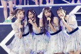 結成8周年記念ライブを行ったNMB48の(左から)吉田朱里、山本彩、白間美瑠、川上礼奈(C)NMB48