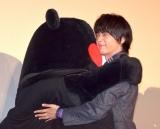 映画『オズランド 笑顔の魔法おしえます。』のプレミア上映会に参加したくまモン&中村倫也 (C)ORICON NewS inc.