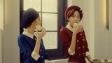 「ラシュクーレ」のCMに出演する桐谷美玲(右)と長見玲亜
