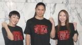活動25年超え体の維持大変と告白したTRFの(左から)ETSU、SAM、CHIHARU (C)ORICON NewS inc.