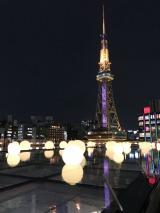 オアシス21ではSKE48劇場デビュー10周年を記念したスペシャルライトアップ(C)AKS