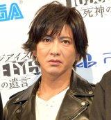 『PlayStation LineUp Tour』の『JUDGE EYES:死神の遺言』発表会に登場した木村拓哉 (C)ORICON NewS inc.