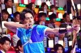 TBS『オールスター感謝祭'18秋』アーチェリー対決で優勝した町田啓太(C)TBS