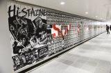 東急田園都市線渋谷駅地下1階の2番出口付近のコンコースに出現した『Hi-STA ZINE』ボード