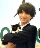 映画『旅猫リポート』公開直前イベントに出席した福士蒼汰と猫のナナ (C)ORICON NewS inc.