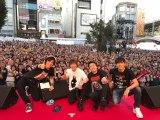 東急東横線の自由が丘駅前でホコ天ライブを敢行したJUN SKY WALKER(S)