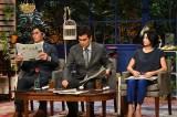 10月10日放送、『ザワつく!一茂良純ちさ子の会』(左から)長嶋一茂、石原良純、高嶋ちさ子(C)テレビ朝日