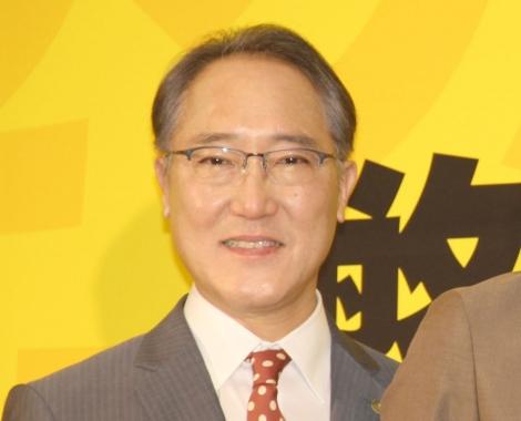 テレビ東京系ドラマBiz『ハラスメントゲーム』)の完成記者会見に出席した佐野史郎