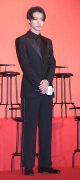 『キングダム』の実写映画製作報告会見に出席した山崎賢人 =『キングダム』の実写映画製作報告会見 (C)ORICON NewS inc.