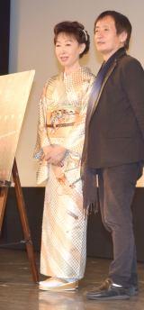 『京都国際映画祭2018』の映画『遠き落日』舞台あいさつに出席した三田佳子(左) (C)ORICON NewS inc.