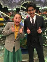 12日に放送されるバラエティー番組『全力!脱力タイムズ』に出演する(左から)いとうあさこ、大野拓朗(C)フジテレビ