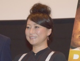 大阪チャンネルオリジナル作品『六城』の舞台あいさつに参加した友近 (C)ORICON NewS inc.