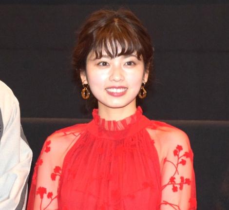 映画『文福茶釜』(20日公開)の舞台あいさつに登壇した小芝風花 (C)ORICON NewS inc.
