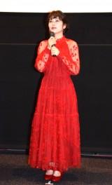 映画『文福茶釜』(20日公開)の舞台あいさつに登壇した(左から)小芝風花 (C)ORICON NewS inc.