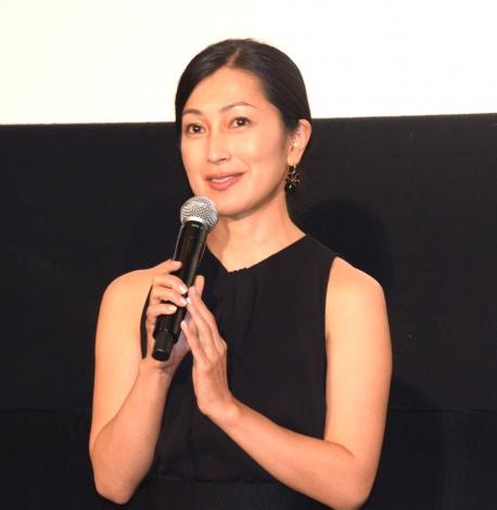 映画『日日是好日』初日舞台あいさつに登壇した鶴田真由 (C)ORICON NewS inc.