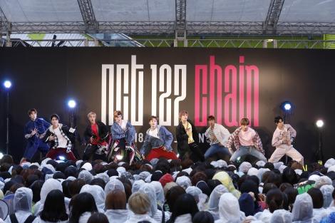 (左から)ジェヒョン、テイル、ウィンウィン、テヨン、マーク、ユウタ、ジャニー、へチャン、ドヨン