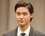 第5回『ドラマ甲子園』大賞作品『キミの墓石を建てに行こう。』記者発表会に出席した磯村勇斗