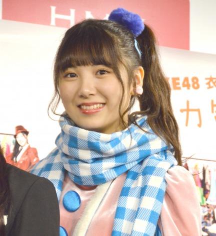 『SKE48衣装図鑑 全力制服』発売記念トークイベント前囲み取材に出席したSKE48菅原茉椰 (C)ORICON NewS inc.