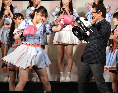 高松瞳がボクシング体験=「Want you! Want you!」リリース記念イベントを行った=LOVE  (C)ORICON NewS inc.