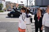 永島優美アナウンサーが13日に地元・兵庫で行われたたすきリレーに参加 (C)フジテレビ
