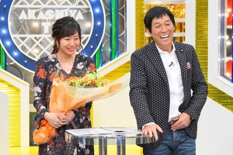 MBSの豊崎由里絵アナウンサーが『痛快!明石家電視台』を涙の卒業(C)MBS