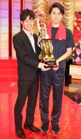 『平成30年度NHK新人お笑い大賞』を獲得したGパンパンダ(左から)星野光樹、一平 (C)ORICON NewS inc.