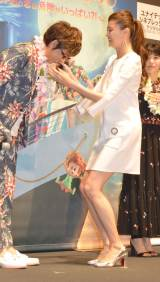 映画『モンスター・ホテル クルーズ船の恋は危険がいっぱい?!』初日舞台あいさつに出席した観月ありさ (C)ORICON NewS inc.