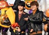 映画『あのコの、トリコ。』の大ヒット御礼舞台あいさつに出席した(左から)吉沢亮、Nissy (C)ORICON NewS inc.