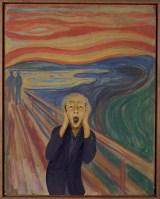 ムンクの「叫び」を再現した小峠英二 ムンク展提供