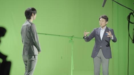 CM『一生に一度の感動・二人の情熱篇』で共演した羽生結弦選手(左)と松岡修造(右)