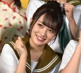 舞台『マジムリ学園』の初日前囲み取材に出席したAKB48・向井地美音 (C)ORICON NewS inc.
