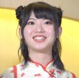 舞台『マジムリ学園』の初日前囲み取材に出席したAKB48・馬嘉伶 (C)ORICON NewS inc.