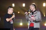 『岡村隆史のオールナイトニッポン歌謡祭 in 横浜アリーナ2018』に出演した岡村隆史(左)とDA PUMPのISSA