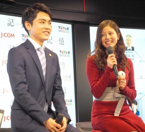 連続ドラマ『記憶』トークイベントに出席した(左から)泉澤祐希、今田美桜 (C)ORICON NewS inc.