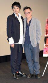 第31回東京国際映画祭のワールド・フォーカス部門特別上映作品『家族のレシピ』舞台あいさつに登壇した(左から)斎藤工、エリック・クー監督 (C)ORICON NewS inc.