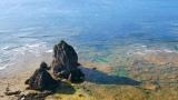大河ドラマ『西郷どん』明治編のタイトル映像より。奄美大島の美しい海(C)NHK