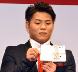 『平成31年お年玉付年賀はがき』販売開始セレモニーに出席した阿部一二三選手 (C)ORICON NewS inc.