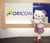 ハローキティが来社し、45周年に向けた限定キティ1万体プレゼントリレー『HELLO AGAIN』企画をアピールした (C)oricon ME inc.