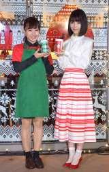 スターバックスコーヒー『クリスマス ケーキ イルミネーション』点灯式に出席した浜辺美波(右) (C)ORICON NewS inc.