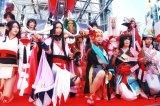 """渋谷ハロウィン、SHIBUYA109の前に""""和装姿""""のコスプレイヤーが集結"""