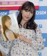 写真集『Makana』発売記念イベント前囲み取材に出席したモーニング娘。'18の譜久村聖 (C)ORICON NewS inc.
