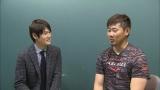 上重聡(左)松坂大輔と(写真:2015年3月のGoing!取材より)