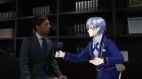 バーチャルYouTuber・七瀬大空(タク)もリポーターとして登場。弁護士の田上嘉一氏(弁護士ドットコム)を取材(C)テレビ東京