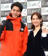 NHK『いよいよスタート!BS4K BS8K 開局SP』出演取材会に出席した(左から)大野拓朗、北川景子 (C)ORICON NewS inc.