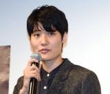 映画『夜明け』の完成披露舞台あいさつに出席した広瀬菜々子監督