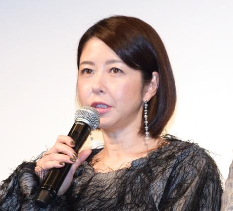 映画『夜明け』の完成披露舞台あいさつに出席した堀内敬子、 (C)ORICON NewS inc.