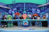 10日放送の『芸能人が本気で考えた!ドッキリGP』に出演する(左から)恵俊彰、ガチャピン、トリンドル玲奈、東野幸治、小池栄子、ISSA、おかずクラブ (C)フジテレビ