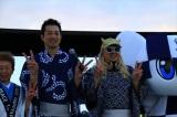 『東京2020応援プログラムOSAKAスポーツパーク2018 in てんしば』に参加した競泳北京五輪銅メダリストの宮下純一氏、DJ KOO(Photo by Tokyo 2020)