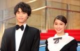 『第31回東京国際映画祭』オープニングイベントのレッドカーペットに登場した(左から)福士蒼汰、広瀬アリス (C)ORICON NewS inc.