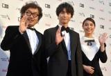 『第31回東京国際映画祭』オープニングイベントのレッドカーペットに登場した(左から)三木康一郎監督、福士蒼汰、広瀬アリス (C)ORICON NewS inc.